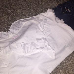 Lilly Pulitzer medium white Pima cotton top